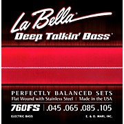 LaBella 760FS Deep Talkin' Bass Flat Wound Standard Electric Bass Strings