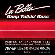 LaBella 767-6F Flat Wound 6-String Bass VI Strings