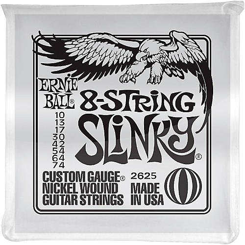 Ernie Ball 8-String Slinky Electric Guitar Strings 10-74-thumbnail