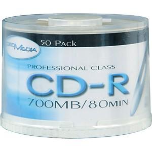 BK Media CD-R 80-Minute 52X 50-Pack