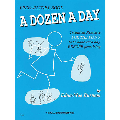 Hal Leonard A Dozen A Day Preparatory Book Technical Exercises For Piano (Blue cover)