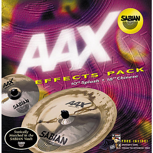 Sabian AAX 2-Piece Effects Cymbal Pack-thumbnail