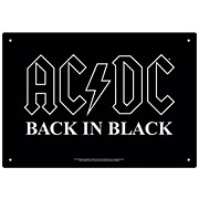 Hal Leonard AC/DC Back in Black Tin Sign