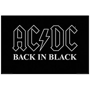 Hal Leonard AC/DC Back in Black Wall Poster