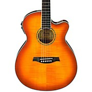 Ibanez AEG20II Flamed Sycamore Top Cutaway Acoustic-Electric Guitar
