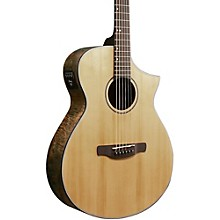 Ibanez AEW Series AEWC24MBLG Maple Burl Acoustic-Electric Guitar