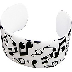 AIM Black/White Musical Notes Cuff Bracelet (29315)