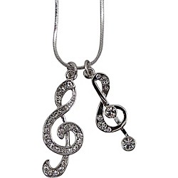 AIM Double Treble Clef Necklace (N421)
