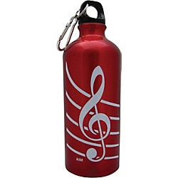 AIM Treble Clef Aluminum Bottle (Red) (71490C)