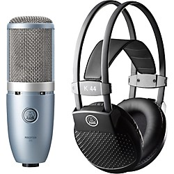 AKG Perception 220 Condenser Mic with K 44 Headphones (PERCEPTION220K44MKII)