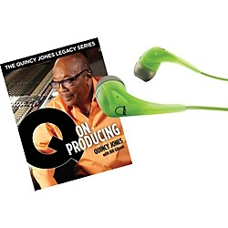AKG Quincy Jones Q350 Headphones with Q on Producing Book (Q350GREENQONPRODUCING)