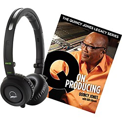 AKG Quincy Jones Q460 Headphones with Q on Producing Book (Q460BLACKQONPRODUCING)
