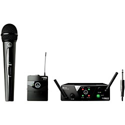 AKG WMS 40 Mini2 Vocal/Instrument Wireless Microphone Set with D8000M Handheld (WMS40Mini2Vocal/Inst D800)