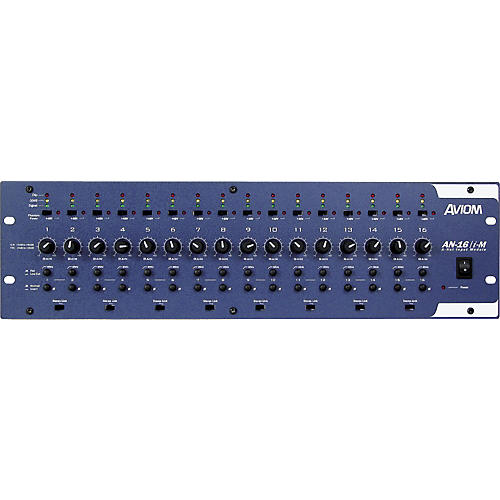 Aviom AN-16/i-M 16-Channel Mic and Line Level Input Module Aviom Blue