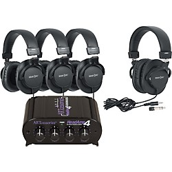 ART HeadAmp 4 Headphone Amp with 4 Headphones (HeadAmp4G900DX)