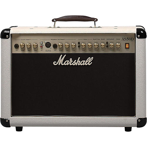Marshall AS50DC Limited Edition 50W Acoustic Guitar Combo Amp Cream-thumbnail