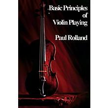 Alfred ASTA Basic Principles of Violin Playing Book