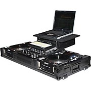 Odyssey ATA Black Label Coffin for Laptop, Two CD Players, and Mixer