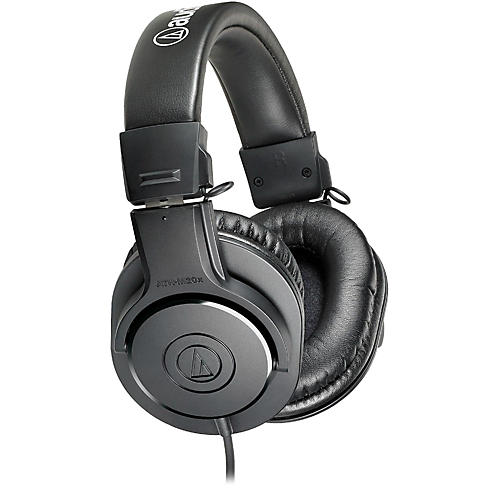 Audio-Technica ATH-M20x Closed-Back Professional Studio Monitor Headphones-thumbnail