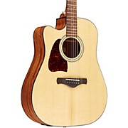 Ibanez AW400CENT Artwood Solid Top Dreadnought Left-Handed Acoustic-Electric Guitar