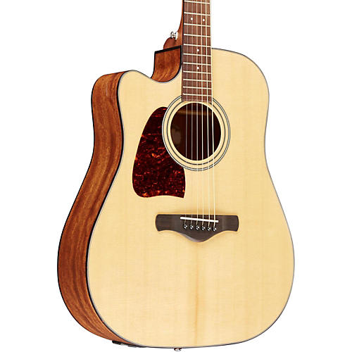 Ibanez AW400CENT Artwood Solid Top Dreadnought Left-Handed Acoustic-Electric Guitar-thumbnail