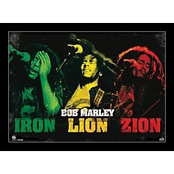 Ace Framing Bob Marley - Iron Lion Zion 24x36 Poster (PP32223F)