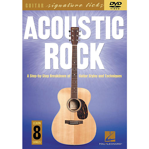 Hal Leonard Acoustic Rock - A Step by Step Breakdown of Guitar Styles and Techniques (Book/CD)