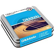 D'Addario Acoustic Sampler Tin with Strings and Variety Pack Picks