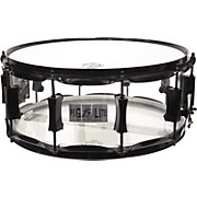 Pork Pie Acrylic Snare Drum with Black Powder Hardware