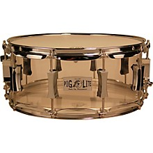Pork Pie Acrylic Snare Drum with Chrome Hardware