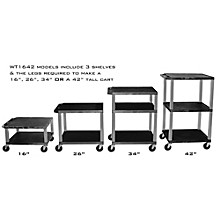 H. Wilson Adjustable-Height Open Shelf Tuffy Cart