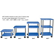 H. Wilson Adjustable-Height Open Shelf Tuffy Cart
