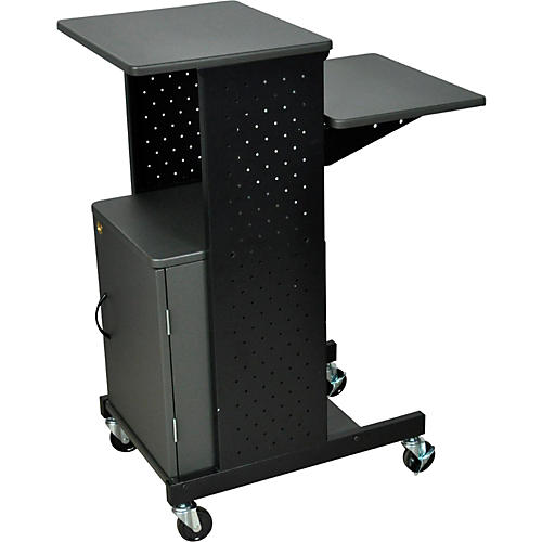 H. Wilson Adjustable Height Presentation Station with Locking Cabinet-thumbnail