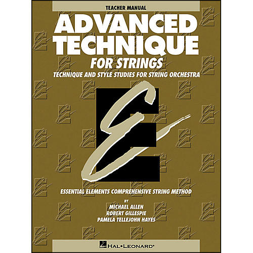 Hal Leonard Advanced Technique Teacher's Manual for Strings-thumbnail