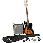 Squier Affinity Series Jaguar Bass SS Pack with Fender Rumble 15W Bass Combo Amp