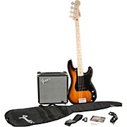 Squier Affinity Series Precision Bass Pack with Fender Rumble 15W Bass Combo Amp