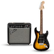 Squier Affinity Series Strat Pack HSS Electric Guitar with Fender Frontman 15G Amp