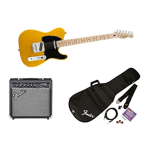 Squier Affinity Series Telecaster Electric Guitar Pack with 15G Amplifier-thumbnail