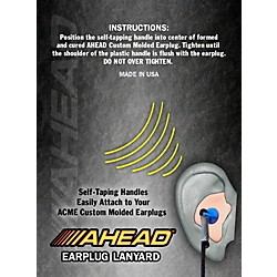 Ahead Custom Molded Earplug Lanyard (ACMEL)