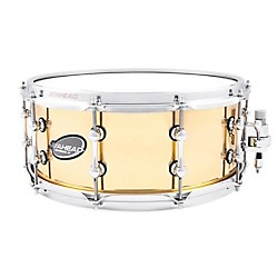 Ahead Polished 3mm Cast Bell Brass Snare Drum w/Trick Throw Off (AS614PBB)