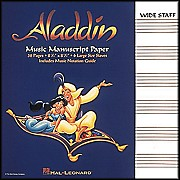 Hal Leonard Aladdin Manuscript Paper