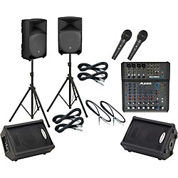 Alesis Multimix 8 USB FX / TH-12A Mains & Monitors Package (MM8USBFXTH12AMM)