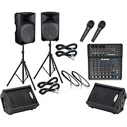 Alesis Multimix 8 USB FX / Thump TH-15A Mains & Monitors Package (MM8USBFXTH15AMM)