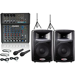 Alesis Multimix 8 USB FX/Harbinger APS12 PA Package (Multimix8USBFXAPS12)