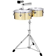 Gon Bops Alex Acuna Signature Brass Timbales