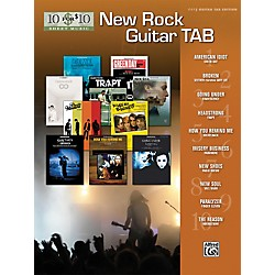 Alfred 10 For $10 - New Rock Guitar Tab Book (00-31483)