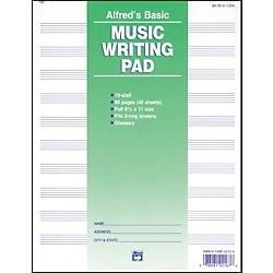 "Alfred 10 Stave Music Writing Pad (8 1/2"" x 11"") (00-181)"