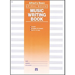 Alfred 12 Stave Music Writing Book (9 x 12) (00-179)