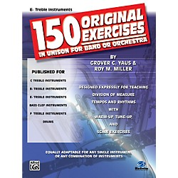 Alfred 150 Original Exercises in Unison for Band or Orchestra E-Flat Treble Instruments (00-EL00149)