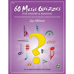 Alfred 60 Music Quizzes for Theory and Reading (Book) (00-27144)